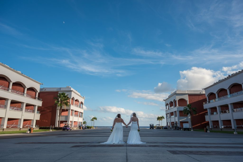 Brides and sky